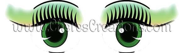 Female Eyes Digital Clip Art Sheet Free Animated Female Eyes Name Tag