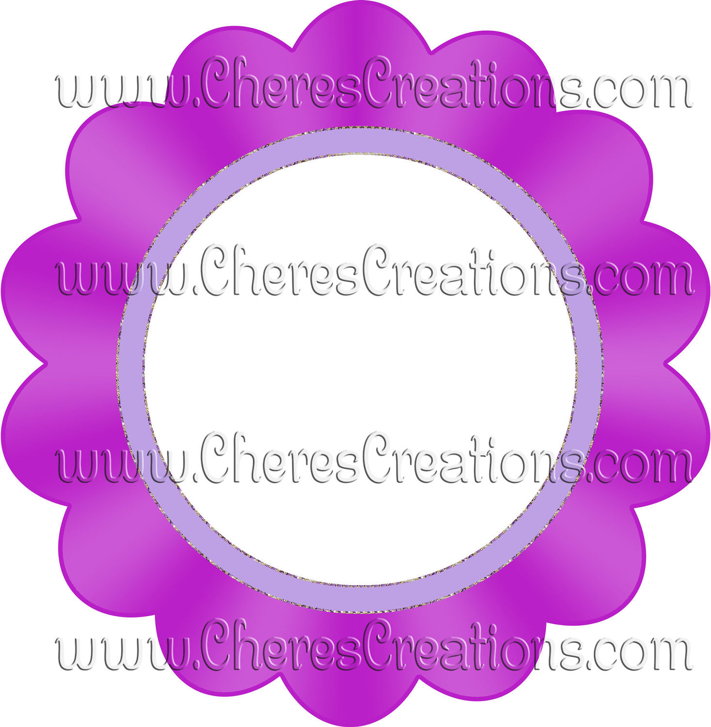 Colorful Flowers Clip Art Frames for Digital Scrap Booking Scrapbooking Craft