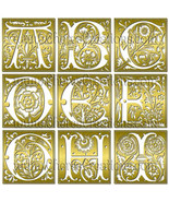 Fancy Gold or Silver Capital Letters Digital Alphabet Scrapbook Kit - $1.75+