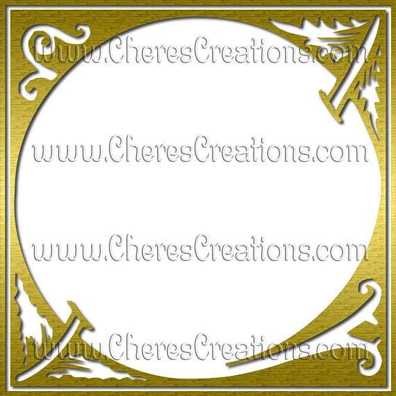 Fancy Gold or Silver Capital Letters Digital Alphabet Scrapbook Kit