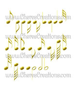 Golden Digital Music Clipart for Digital Scap Booking Craft Scrapbooking - $1.75
