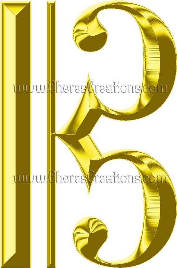 Golden Digital Music Clipart for Digital Scap Booking Craft Scrapbooking