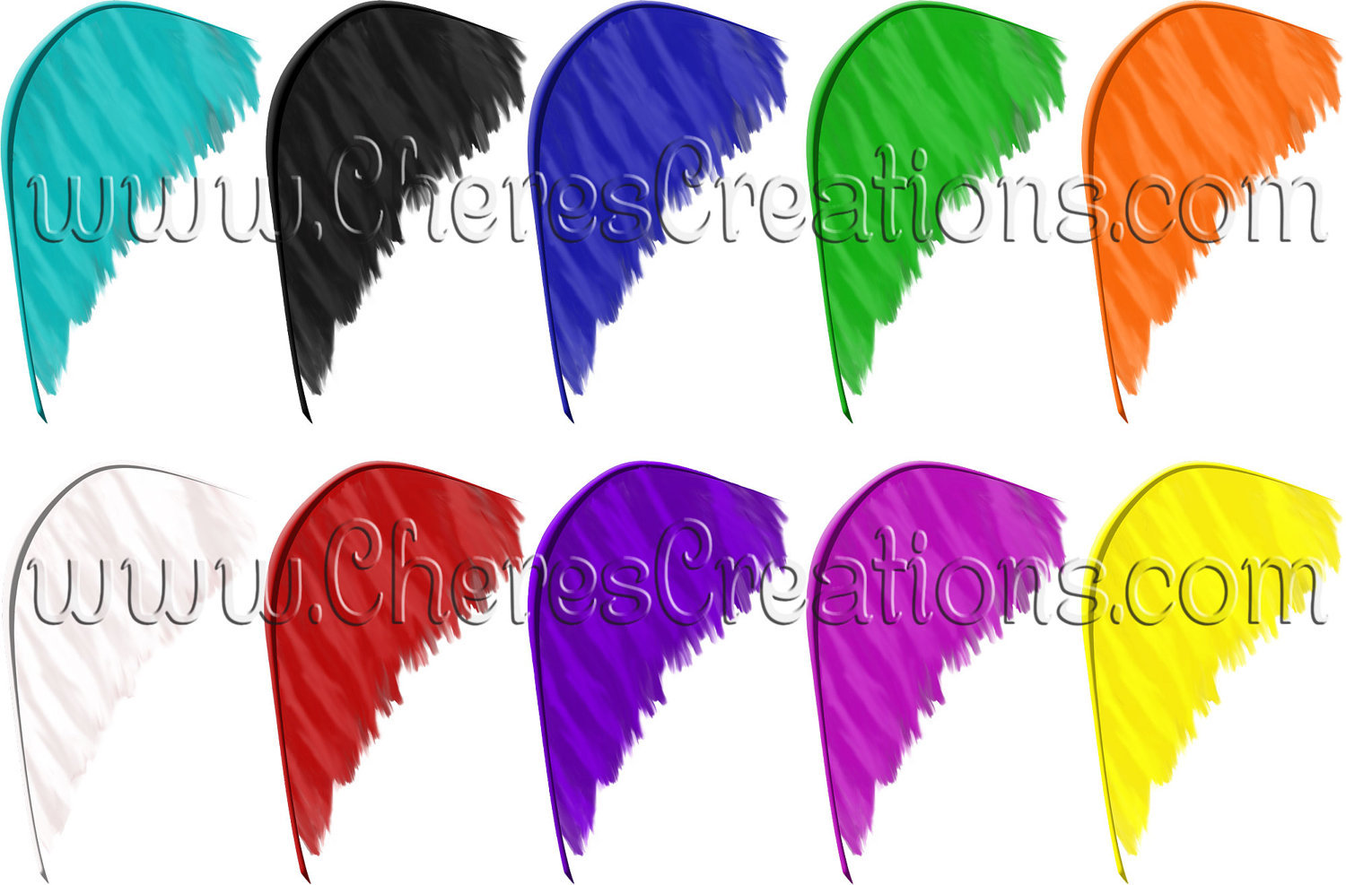 Color Feathers Clip Art for Digital Scap Booking Craft Scrapbooking