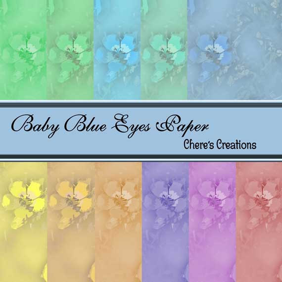 Digital Baby Blue Eyes Paper forDigital Scrap Booking Crafts Scrapbooking