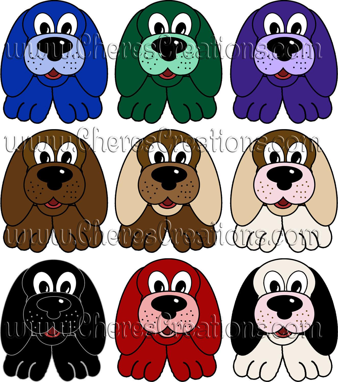 18 Puppy Dog Clip Art for Digital Scap Booking Scrapbooking Crafts