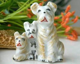 Vintage Trio Scottish Terrier Dogs Puppy Figurine Occupied Japan - $12.95