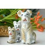 Vintage Trio Scottish Terrier Dogs Puppy Figurine Occupied Japan - $14.95