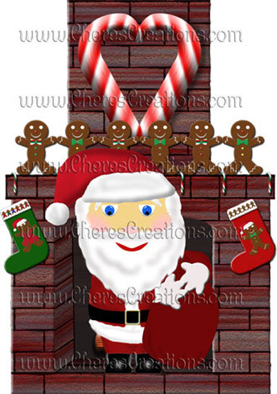 Santa and Friends Digital Clip Art Sheets for Scrap Booking