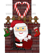 Santa and Friends Digital Clip Art Sheets for Scrap Booking - $1.75