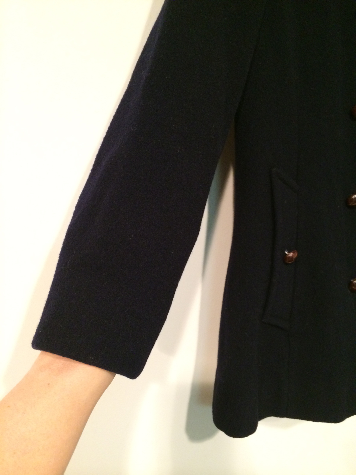Mackintosh Authentic Peacoat 100% wool Made in U.S.A. Navy Blue True Vintage S