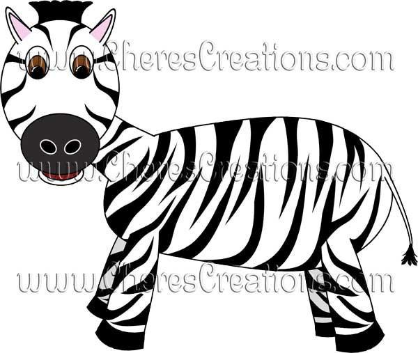 Zoo Animals Digital Scrapbook Kit Lion Tiger Hippo Zibra Giraffe