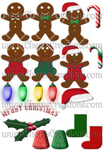Christmas Clip Art Sheet with 19 Graphics for Scrap Booking Crafts Scrap... - $1.75
