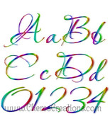 Neon Rainbow Alphabet for Digital Scap Booking - $1.75