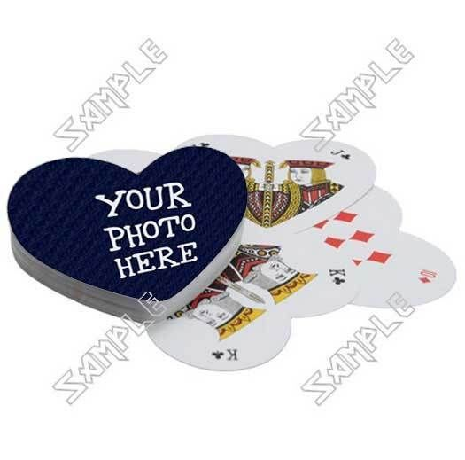Custom Personalized Playing Cards (Heart)