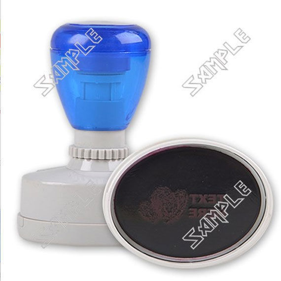 Design Your Own Rubber Stamp Oval Personalized with Six Ink Color Choices