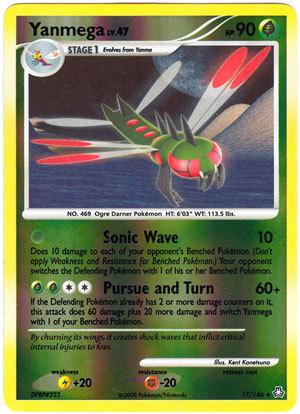 Yanmega 17/146 Reverse Holo Rare Legends Awakened Pokemon Card
