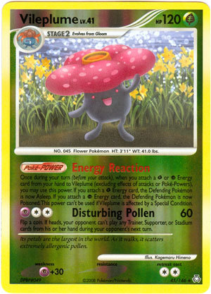 Vileplume 45 reverse holo rare legends awakened