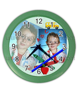 """School Wall Clock 10"""" Diameter Plastic Frame and Face Cover Choice of 5 ... - $26.99"""