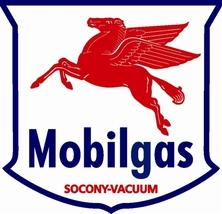 """Mobilgas Pegasus Gas 25.5"""" Baked Enamel Metal S... - $119.95"""