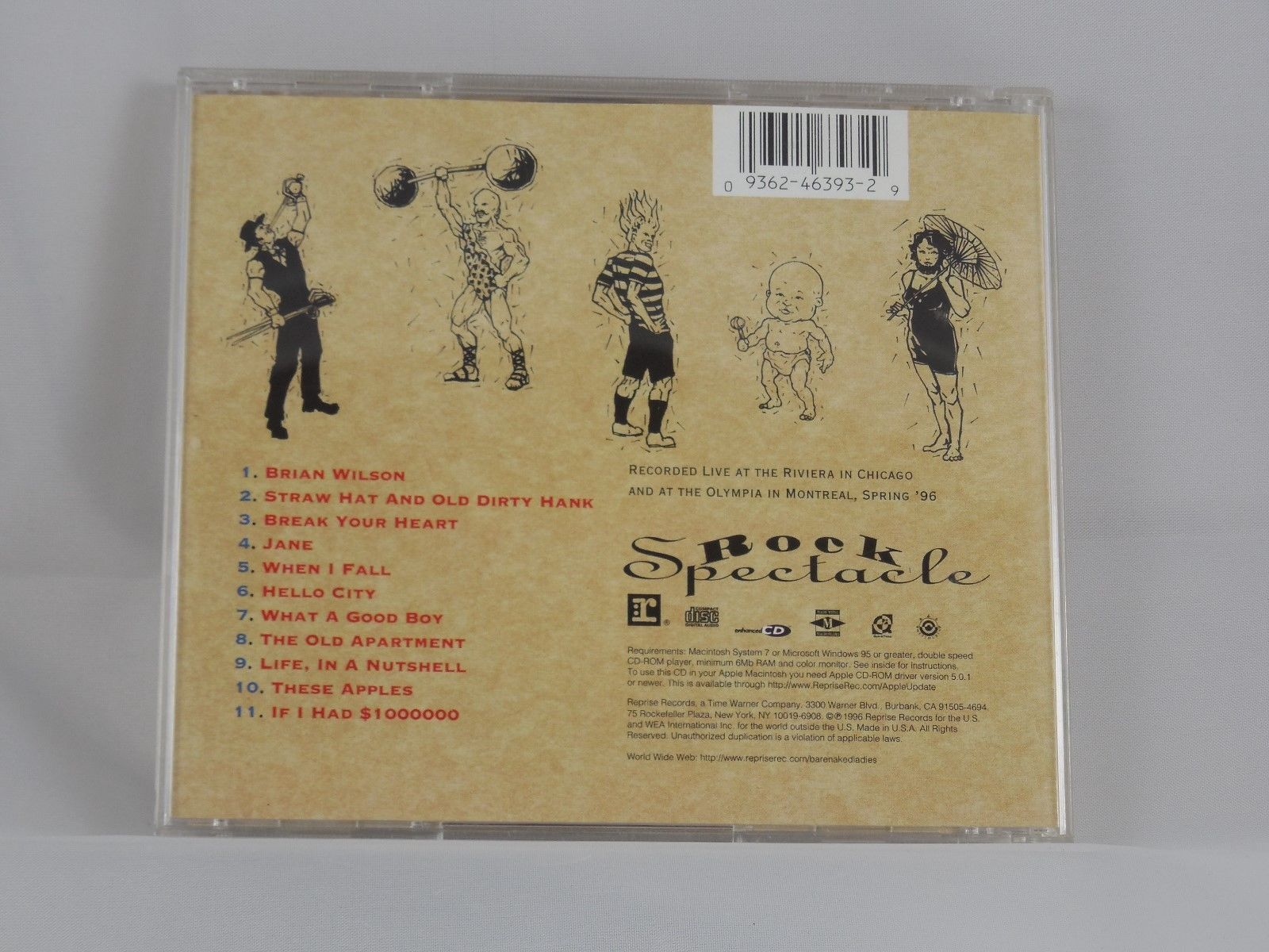Rock Spectacle by Barenaked Ladies (CD, Nov-1996, Reprise)