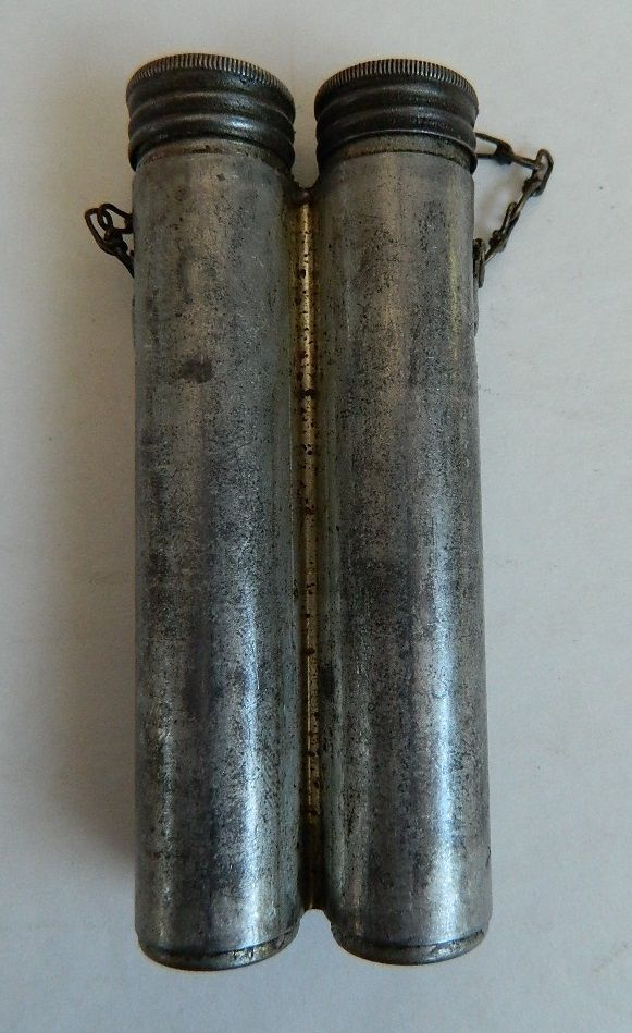WWI & WWII SWEDISH MAUSER M93 & 96, DUAL CYLINDER RIFLE CLEANING OILER BOTTLE!!