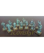 Ancient Greek Zamac Miniature Statues of the Gods of Olympus - 12 Olympi... - $107.31