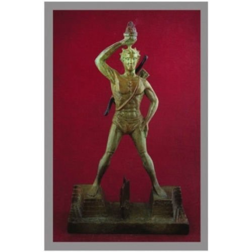 Ancient Greek Bronze Museum Statue Replica of Colossus of Rhodes (1214)