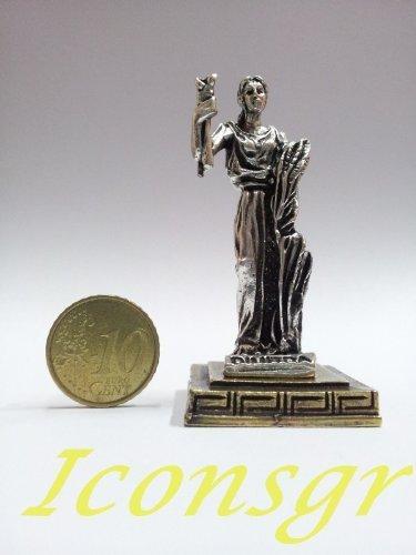 Ancient Greek Zamac Miniature Statue of Dimitra (Silver) [Home] - $12.64