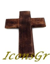 Handmade Christian Greek Orthodox Wooden Wood Cross / R17 [Kitchen] - $43.41