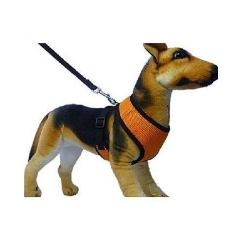 Black Soft Dog Harness for Leash Collar Chest Neck Vest Pet Accessories Walker