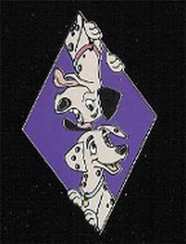 101 Dalmatians Pongo and Perdita LE 500 Peek-a-Boo Authentic Disney Auction Pin