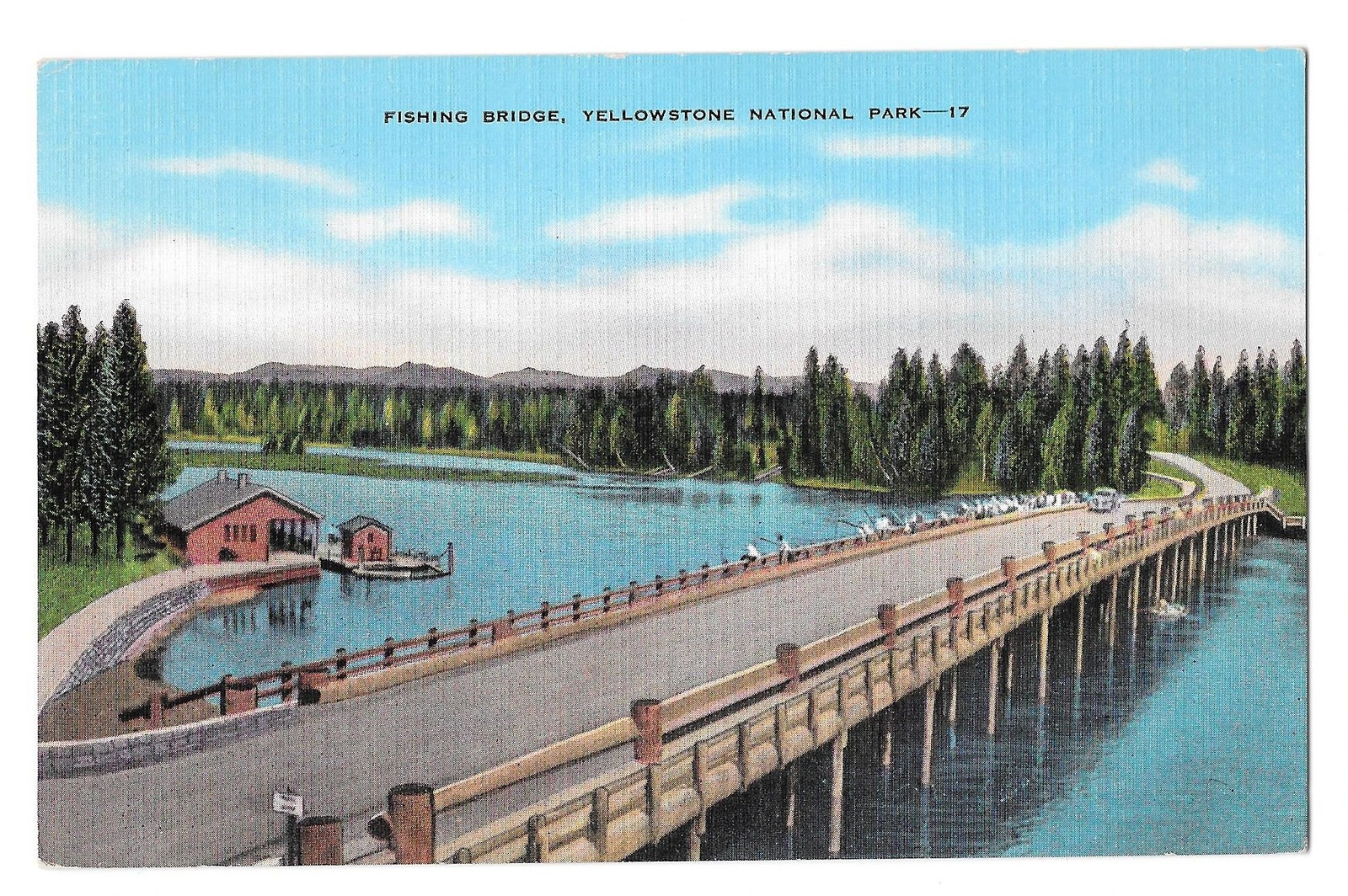 99 br 1925 1bx yellowstone fishing bridge