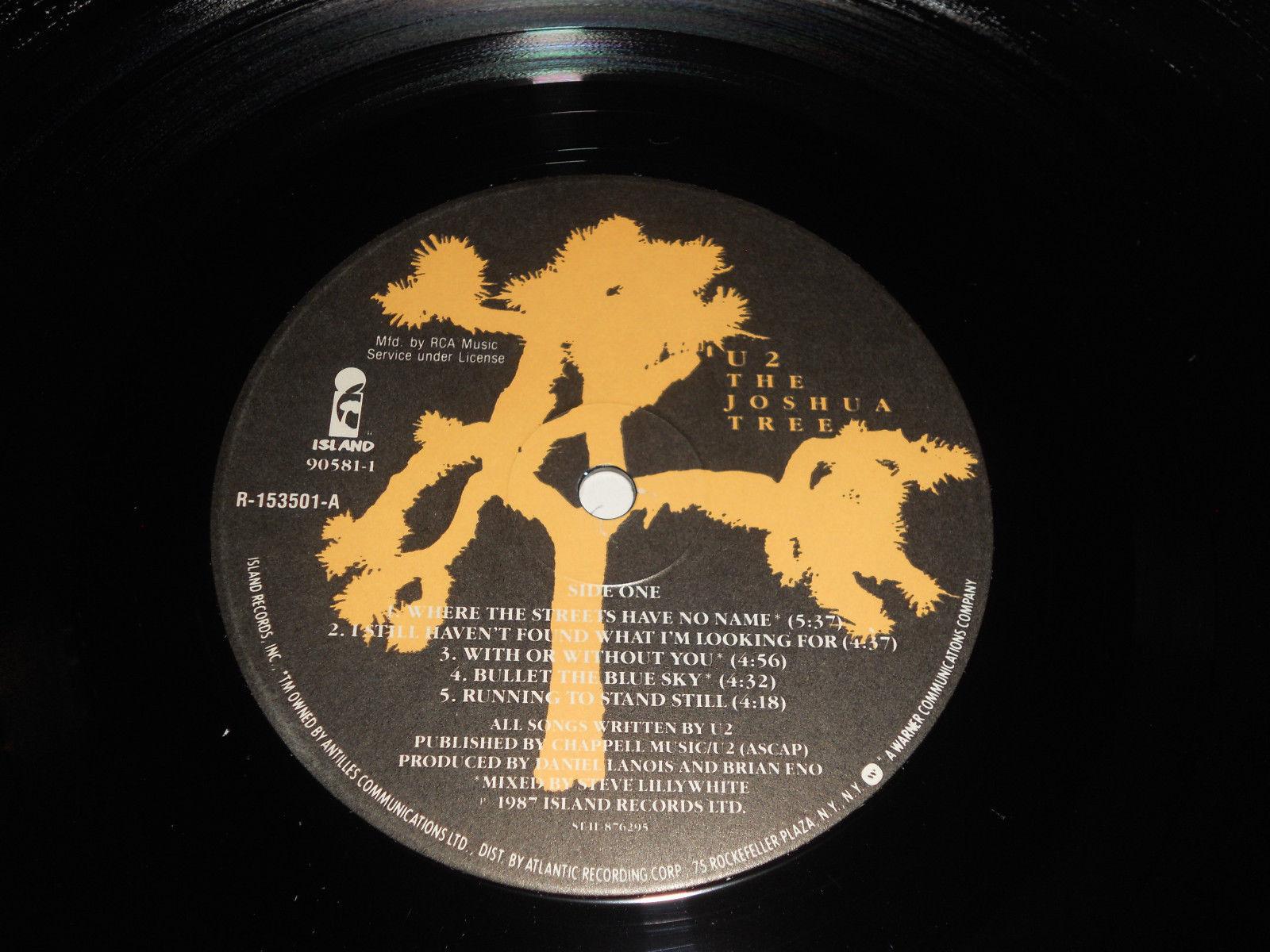 U2 NM The Joshua Tree R-153501 Island Near Mint U2 bono The Edge Adam Clayton