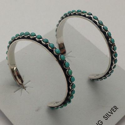 Sterling Silver Handmade Snake Eye Stone Round Loop Hoop Post Earrings