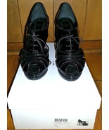Authentic Dior Black Patent Glam Ankle Booties Size 35 - $395.00