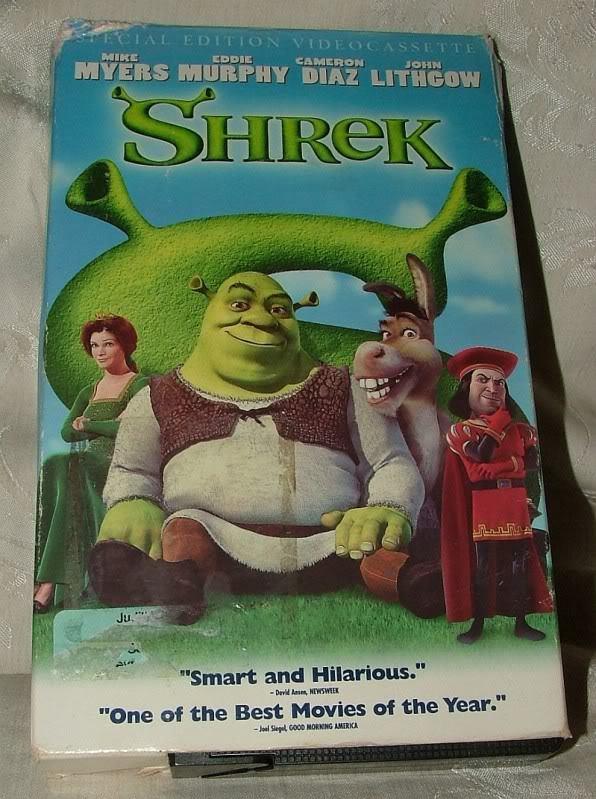 SHREK 2001 Special Edition VHS Tape All New Extended Ending!