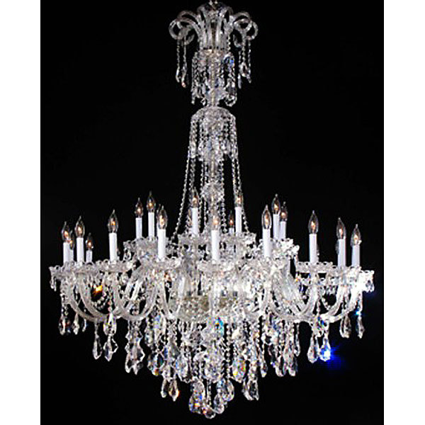 Maria Theresa Large Crystal Chandelier,New,47''d x 63''h.