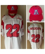 Arizona Wildcats Jersey Football NCAA Team Collegiate NWT + Fitted Cap Hat - $69.04
