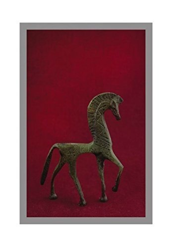 Ancient Greek Bronze Museum Statue Replica of Horse From Geometric Era (1123)