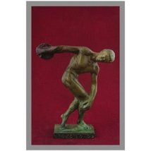 Ancient Greek Bronze Museum Statue Replica of Discus Thrower of Myron (1... - $108.49
