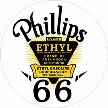 """Phillips 66 Ethyl Gasoline 25.5"""" Bake Enamel Me... - $119.95"""