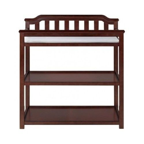 Infant Changing Table Baby Diapers Nursery Pad Safety Strap Wooden Furniture