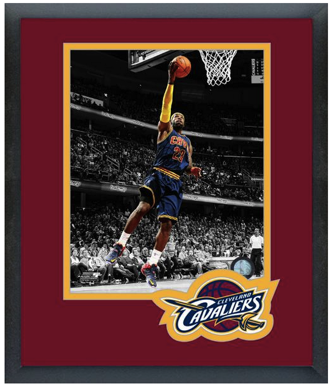 "Lebron James 2014-15 Cleveland Cavaliers- 11 x 14 Matted/Framed""Spotlight"" Photo"