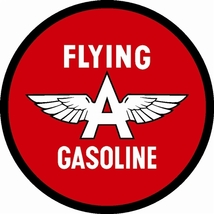 "Flying A Gasoline 25.5"" Baked Enamel Metal Sign... - $119.95"