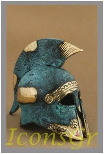 Ancient Greek Bronze Museum Replica of Cretan Helmet (365) [Kitchen]