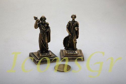 Ancient Greek Zamac Miniature Statues Set of 2 Pieces - 5657 [Kitchen]