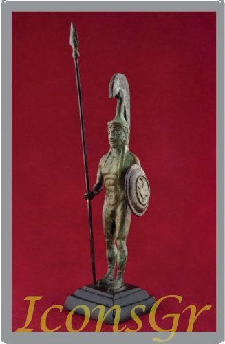 Ancient Greek Bronze Museum Statue Replica of Macedonian Army (1627) [Kitchen]
