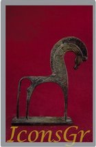 Ancient Greek Bronze Museum Statue Replica of Horse From Geometric Era (... - $45.18