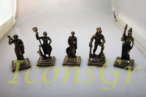 Ancient Greek Zamac Miniature Statues Set of 5 Pieces [Kitchen]