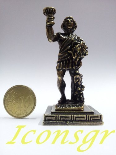 Ancient Greek Zamac Miniature Statue of Vakhos (Gold) [Kitchen]